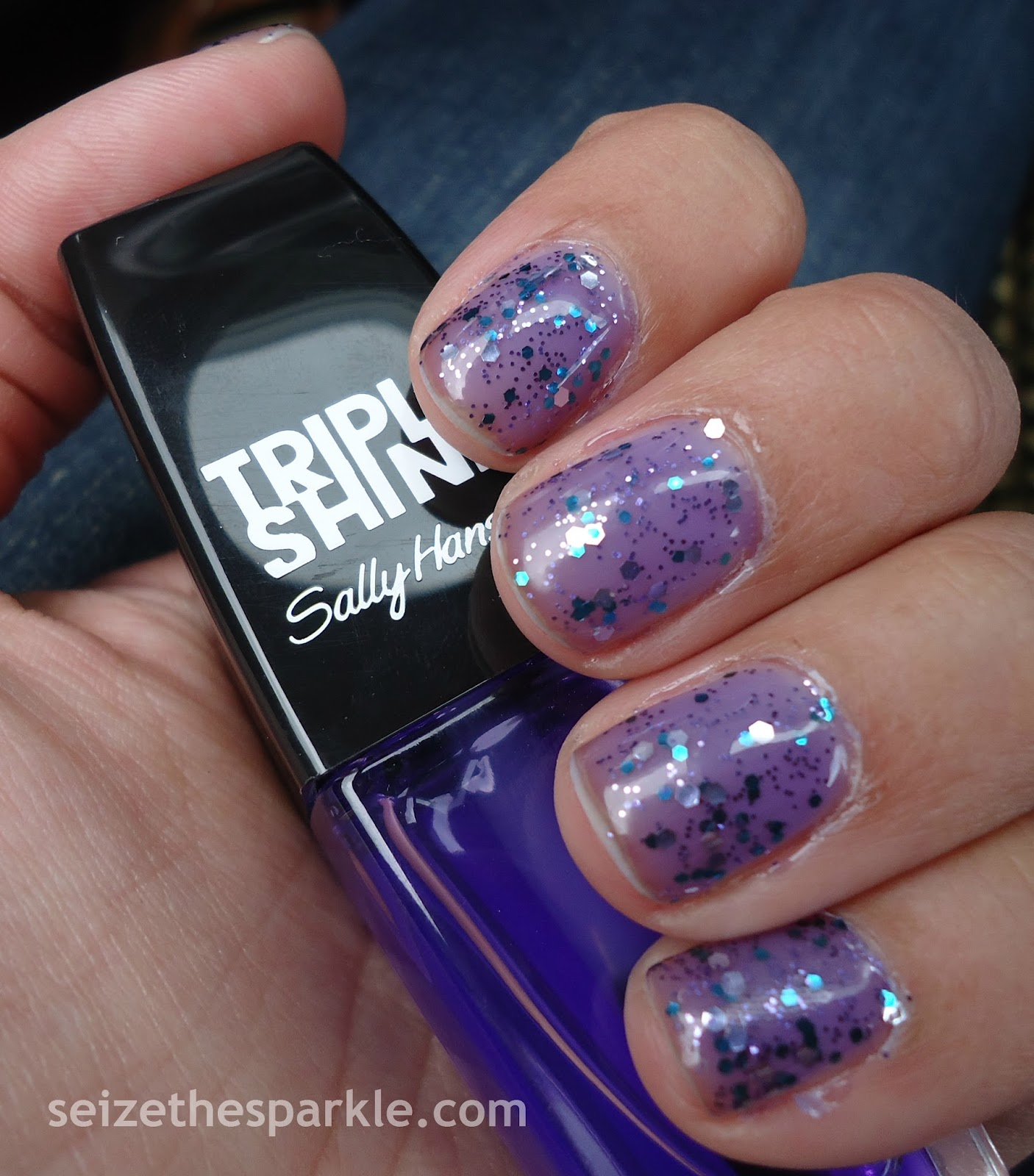 Layering with Sally Hansen Grape Jelly