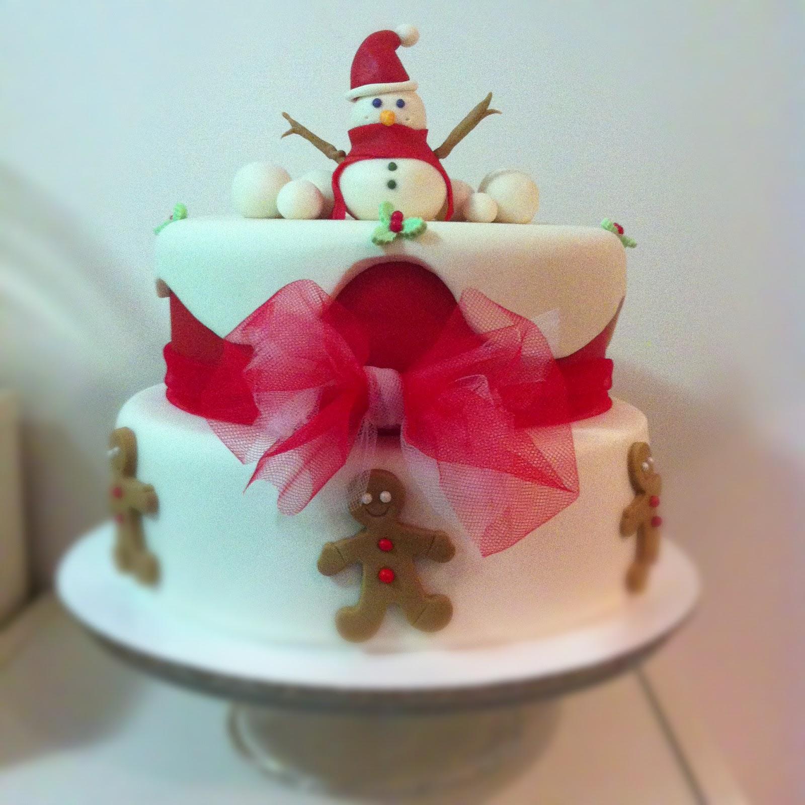 Sweet cuc 39 s cake torta a due piani corso intermedio natale - Decorazioni torte natalizie ...