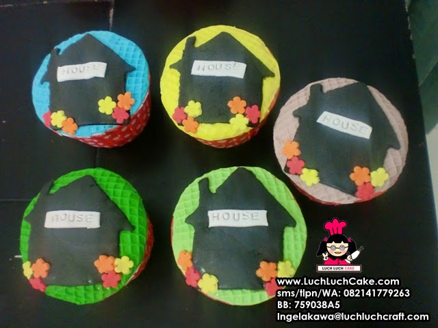 Souvenir Ulang Tahun Cupcake Rumah 2D Surabaya - Sidoarjo