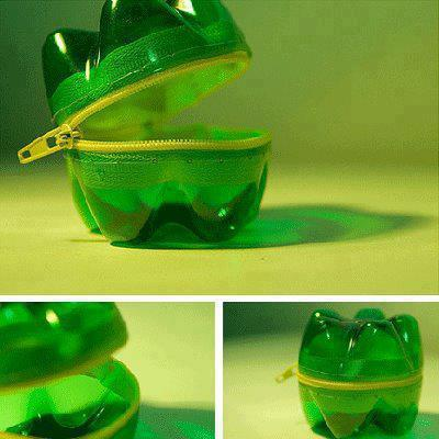 Creative purse from waste water bottles for Waste material things