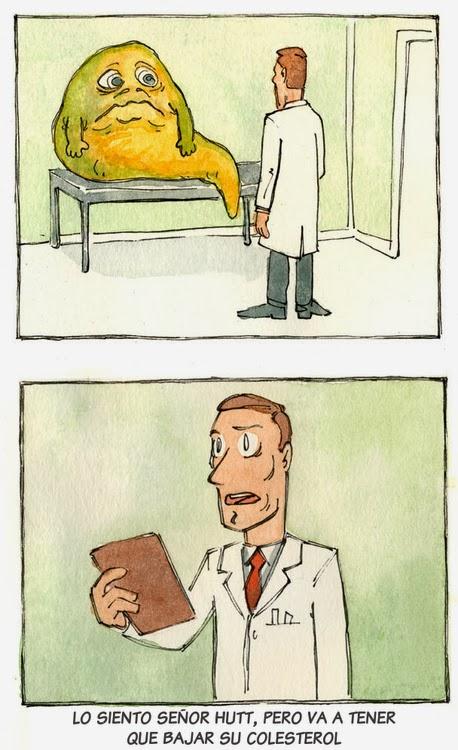 Jabba el Hutt en el médico