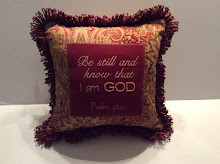Ps. 46:10 - red/gold/sage - 14""