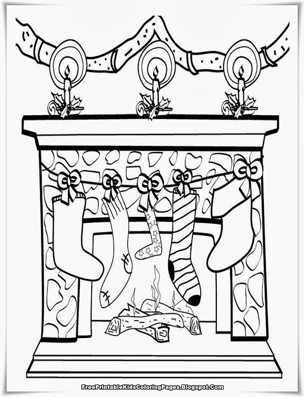 Free Printable Christmas Coloring Pages title=
