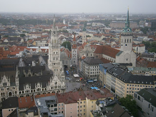 Vista da Marienpltaz do alto da Frauenkirche (Igreja de Nossa Senhora)