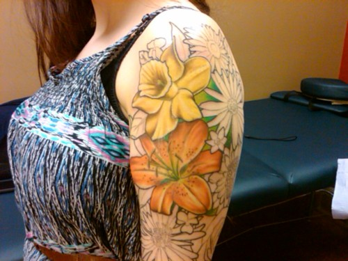 lilly flower tattoo