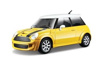 Marks Diecast BBurago #18-22126/Yellow 1/24th Scale Mini Cooper S Yellow