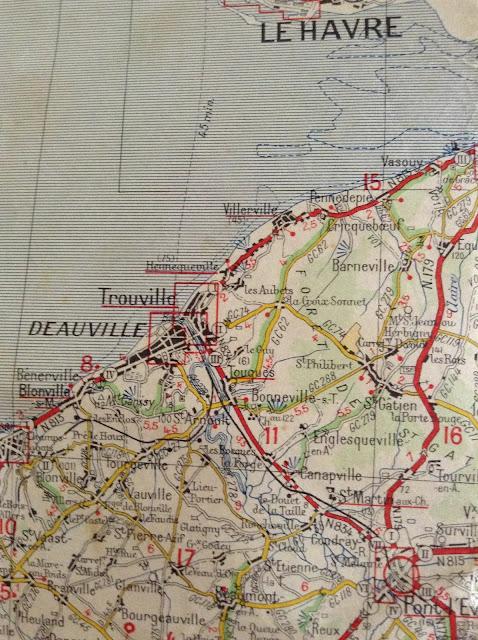 vintage deauville map