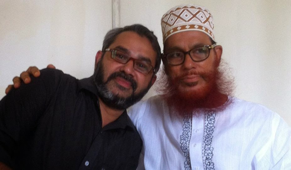 Masood Sayedee with his father Mawlana Delwar Hossain Sayedee