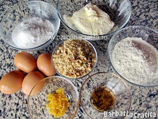 Prajitura rapida cu nuca (Semiluna) ingrediente reteta