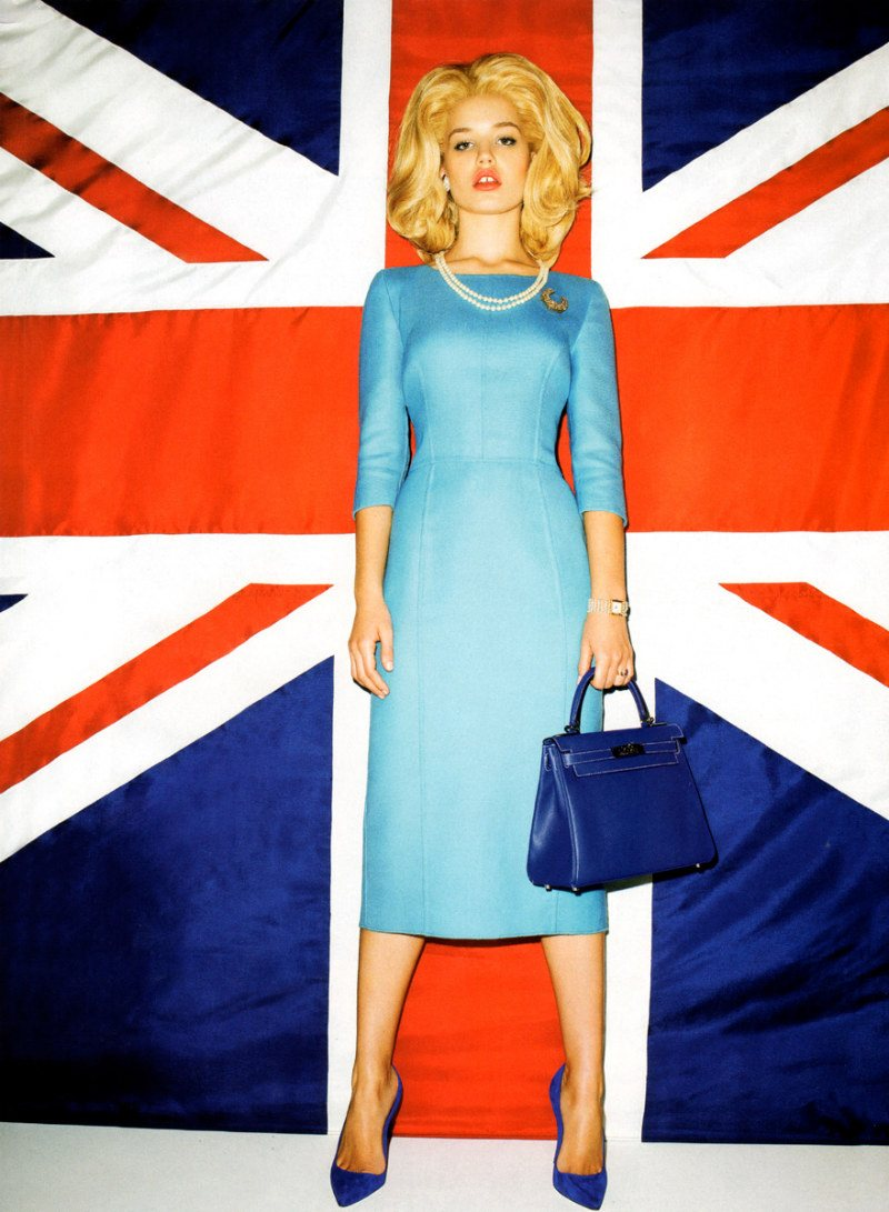Georgia May Jagger as Margaret Thatcher in Harper's Bazaar UK August 2011 (photography: Terry Richardson)