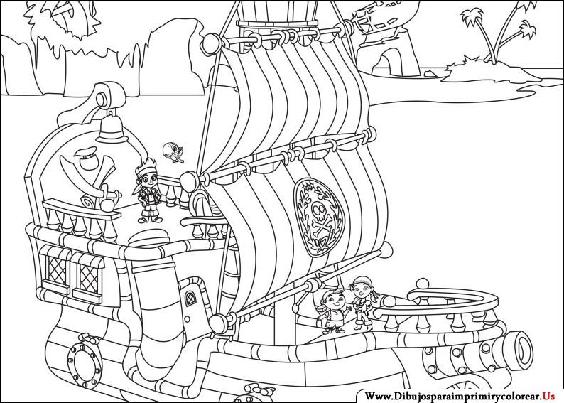 Bonito Bucky El Barco Pirata Para Colorear Ornamento - Ideas Para ...