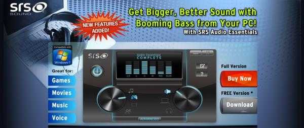 SRS Labs Audio Essentials 1.2.3.12 (x86/x64) | full version | 39mb