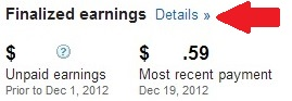 Google adsense finalized earnings