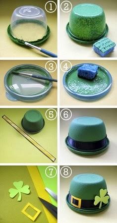 Ideas de Reciclaje para St. Patrick's day o Día de San Patricio