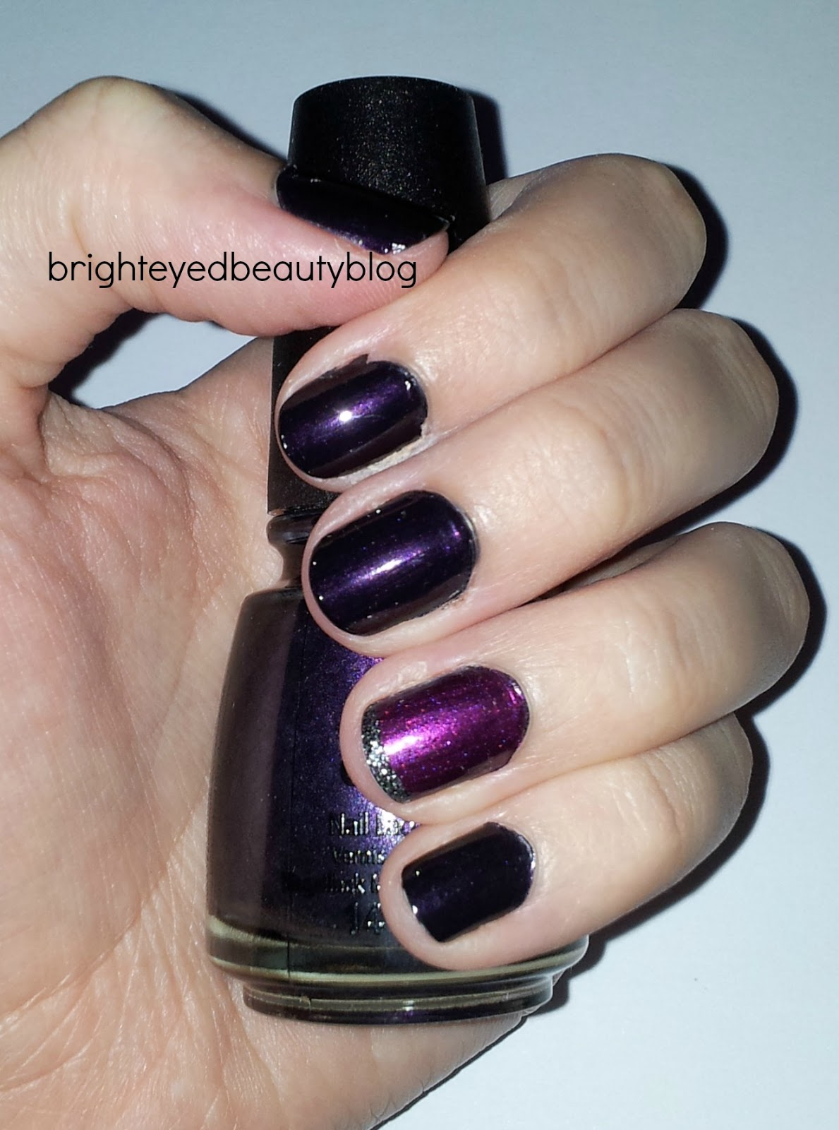 Swatch of China Glaze nail polish in Stella