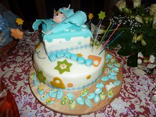 Buffet Di Dolci Battesimo : Buffet di dolci con torta in pasta di zucchero per il battesimo
