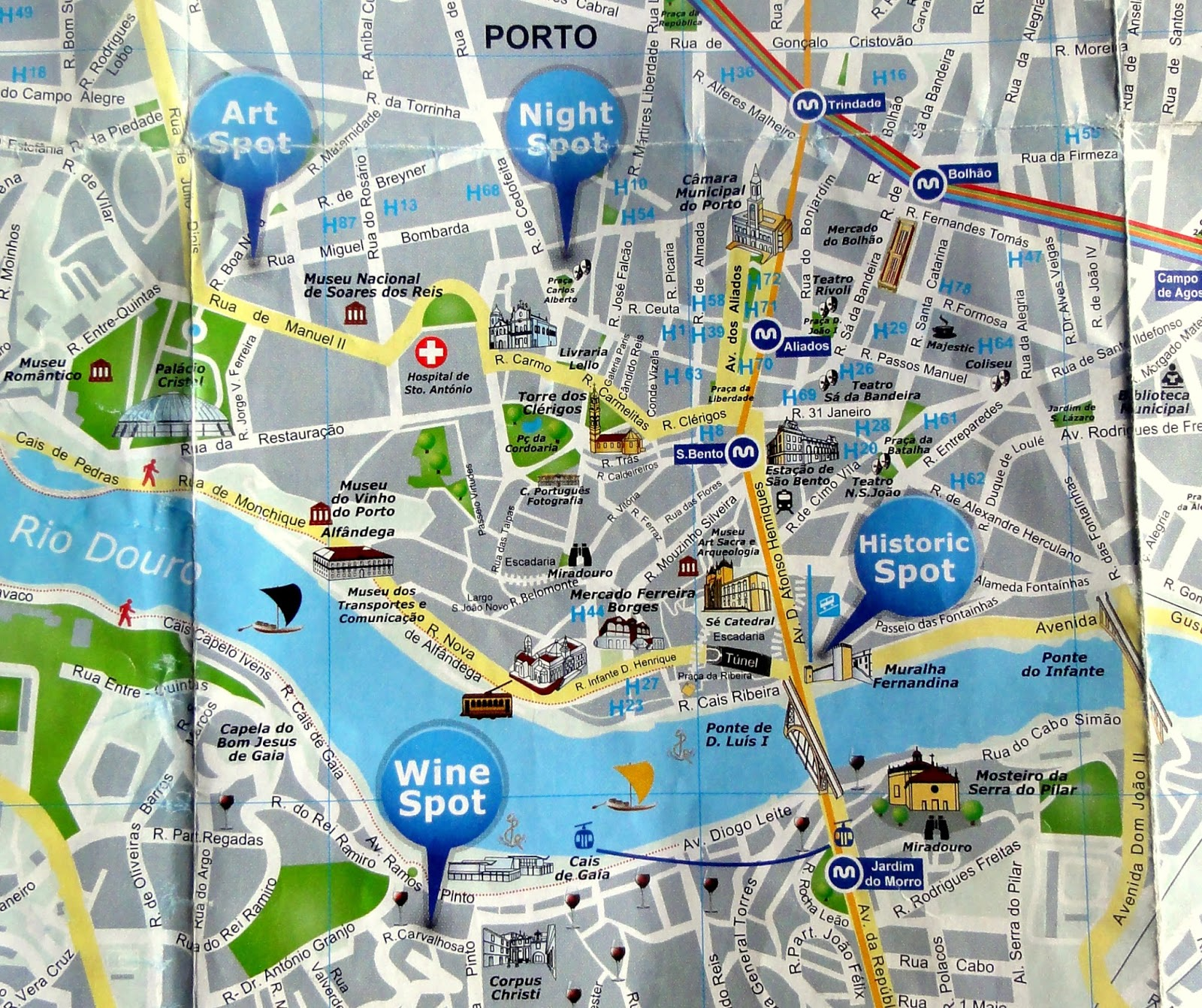 Walking Discoveries and Map of Porto Centre Travel and Lifestyle