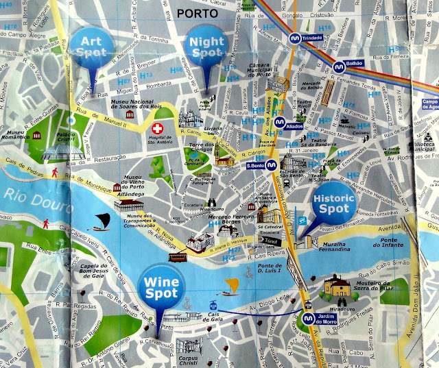 Walking Discoveries And Map Of Porto Centre Travel And