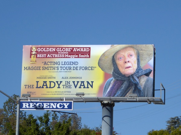 Lady in the Van movie billboard