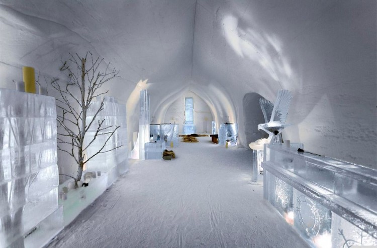 the ice hotel finland world. Black Bedroom Furniture Sets. Home Design Ideas