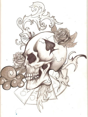 Here There  EveryWhere     Skulls Tattoo Designs Wallpaper 2012 New