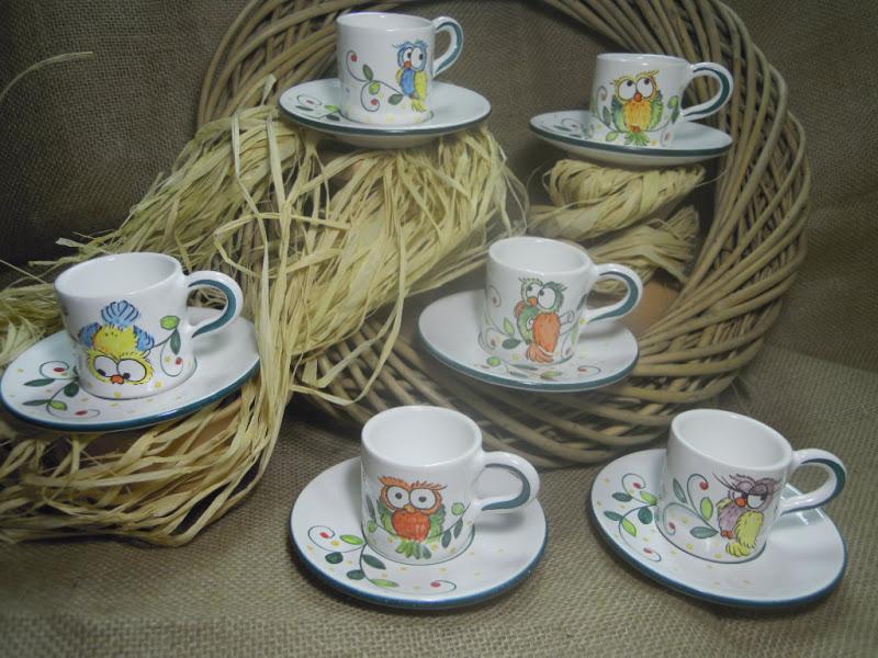Ceramica come mestiere i gufi di ceramica come mestiere for Decorazione ceramica