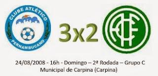 Campeonato Pernambucano Série 2: América perde em Carpina