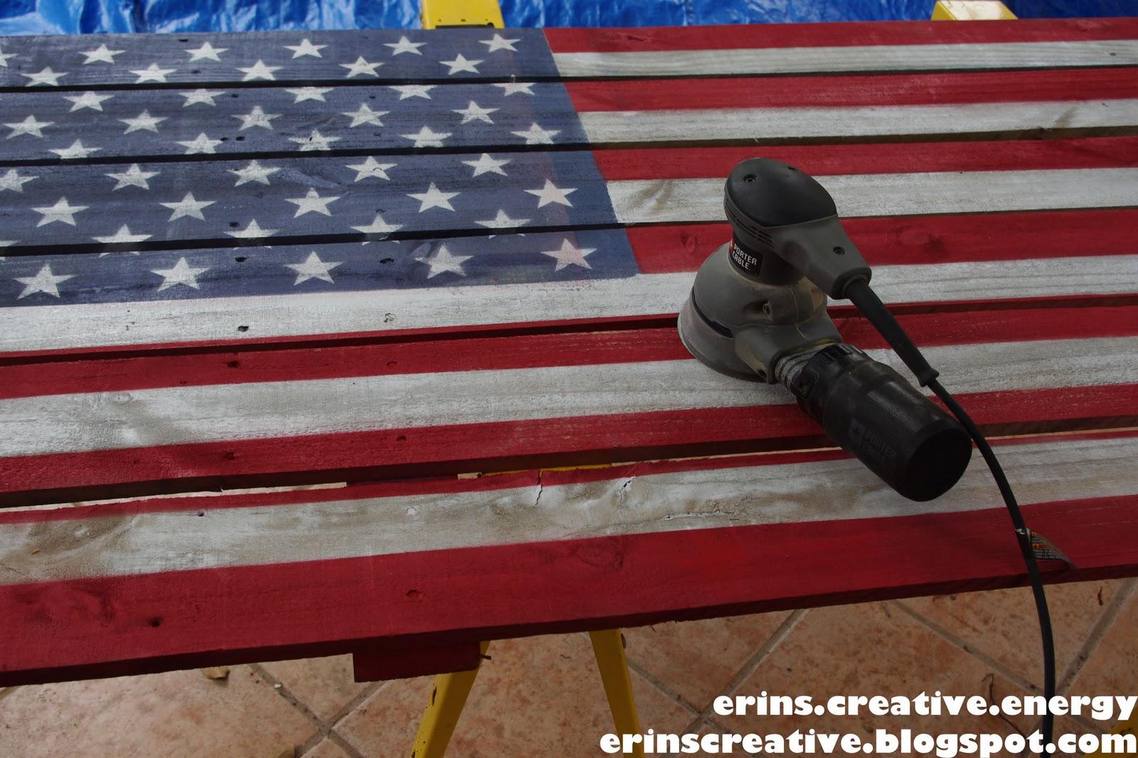 Erin\'s Creative Energy: Fence Picket Flag