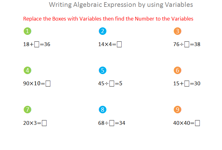 Bro and Sis Math Club: Writing Algebraic Expression by using Variables