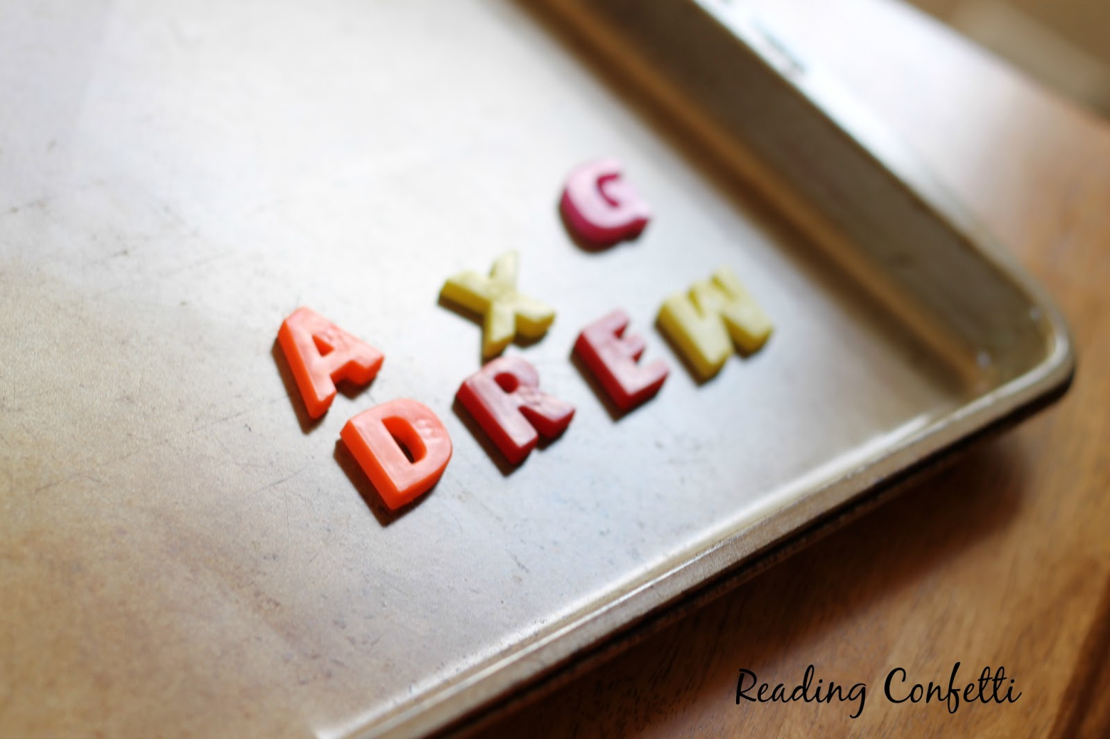 Magnetic alphabet games kids can play to practice letter recognition