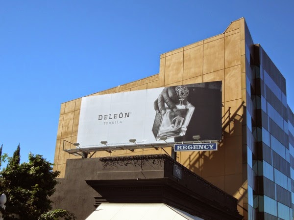 Deleón Tequila bottle billboard