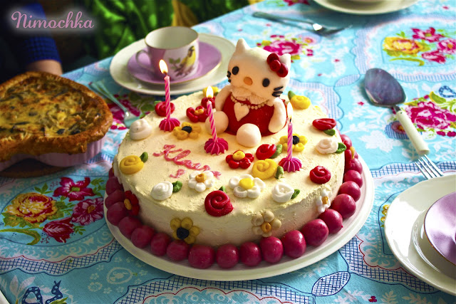 hello kitty, birthday cake, sugar paste, fondant figurines