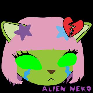 broken heart alien neko emoji