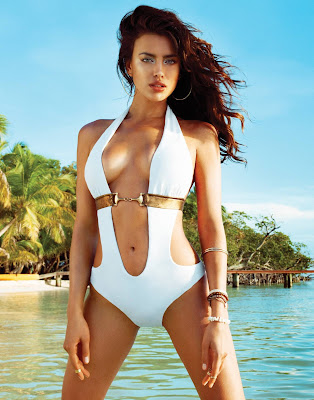 Russian supermodel Irina Shayk show off her sexy bikini body for Beach Bunny new swimwear collection