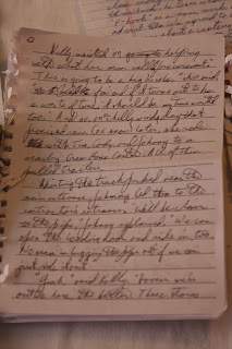 notebook writing sample