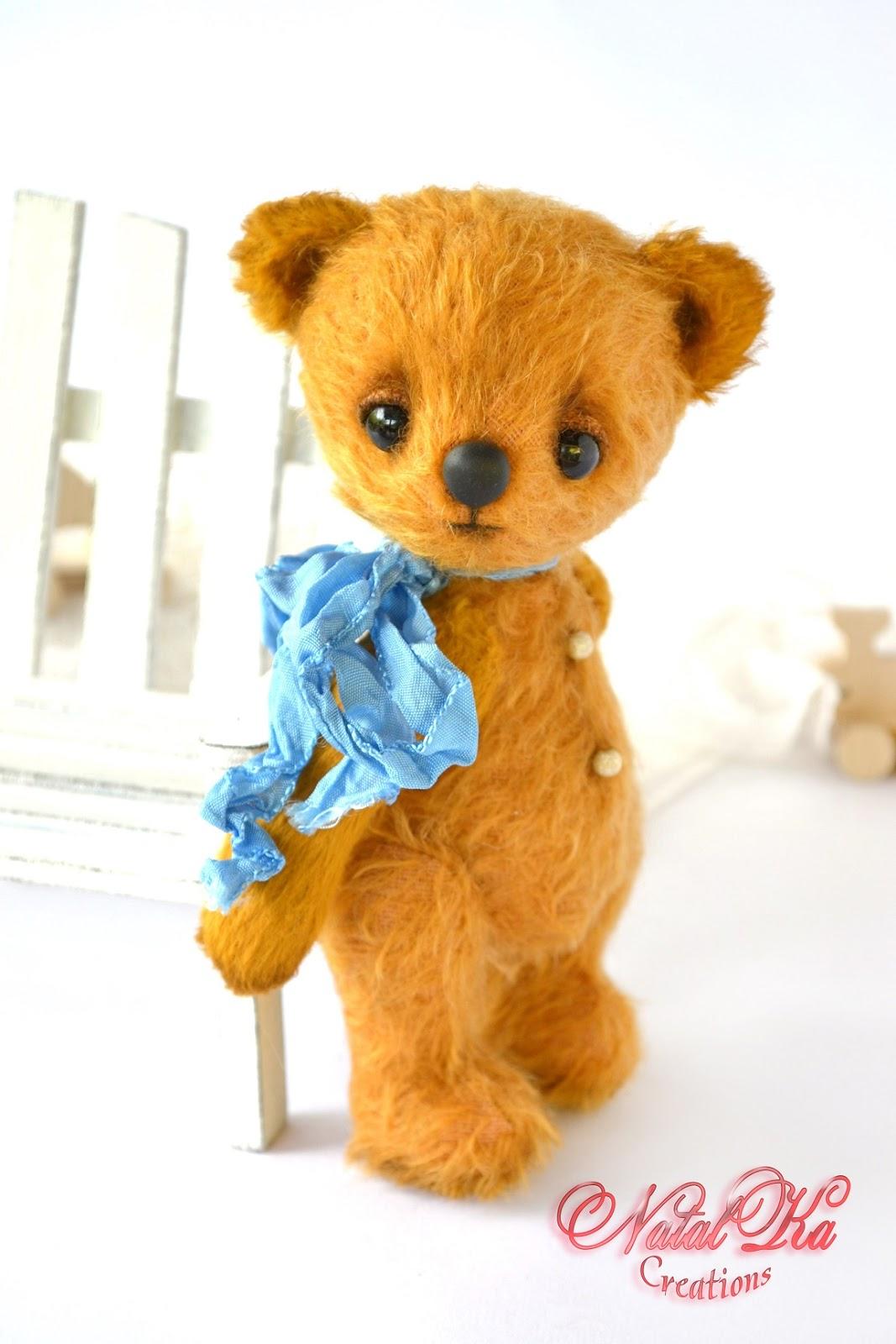 Artist teddy bear ooak handmadefrom mohair by NatalKa Creations. Künstlerbär Teddybär Sammlerbär Bär Teddy handgemacht aus Mohair von NatalKa Creations