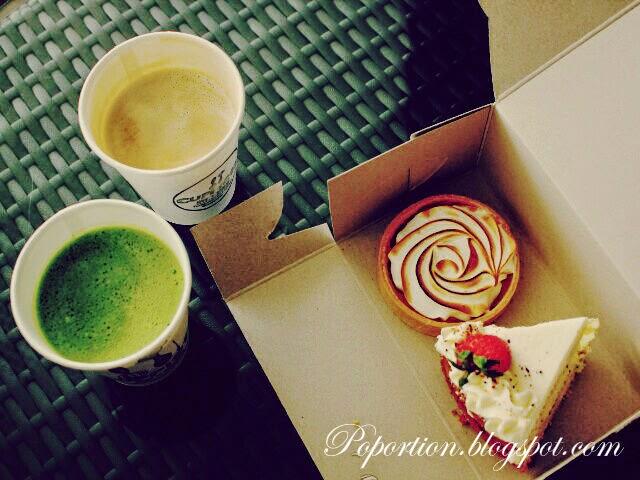 lemon meringue tart elderflower cake matcha latte vanilla latte