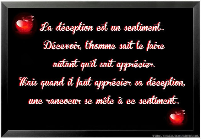Citation deception de la vie sur image