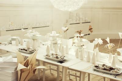 semplicemente perfetto ispirazione Lo Bjurulf Ikea ecologico matrimonio origami fiori low budget