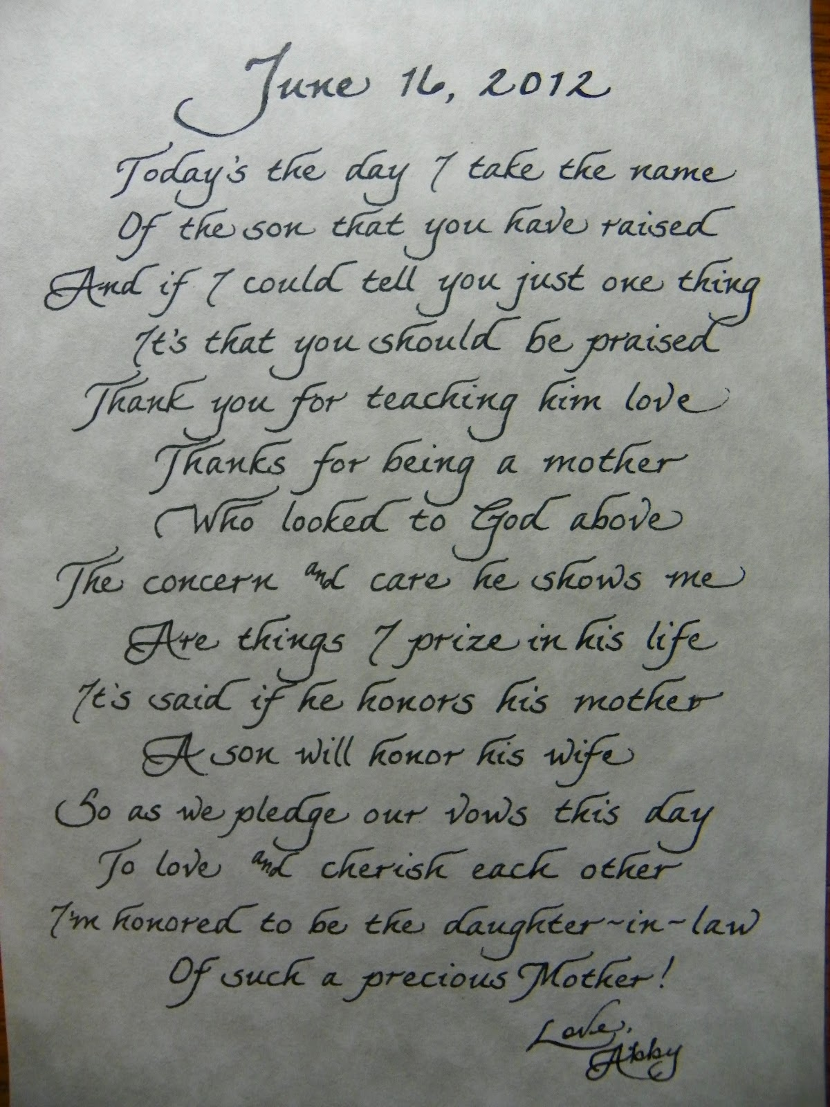 Letter To The Mother In Law Happily Ever After 3 Pinterest