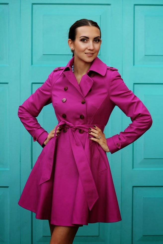 русские блогеры, русские в бирмингеме и лондоне, тренды плащи весна 2014, розовый или фиолетовый плащ