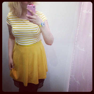 Striped Yellow Dress