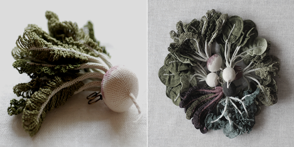 crochet art, crochet vegetable by Itoamika Jung-jung