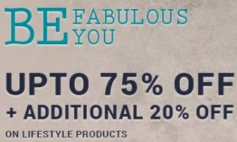 Infibeam : Be Fabulous fashion sale  Upto 75% off & Extra 20% off on All Lifestyle Products : Buy To Earn