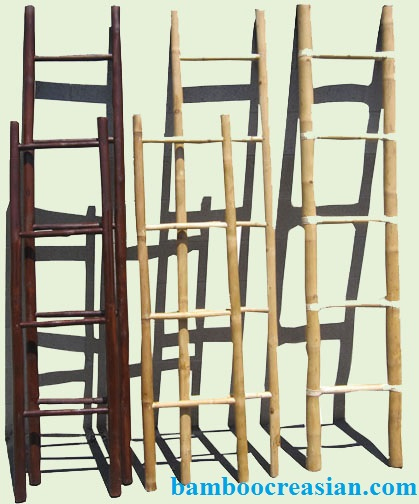 Quality bamboo and asian thatch bamboo ladder bamboo - Decorative ladder for bathroom ...