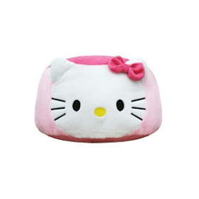 SOFA BULAT HELLO KITTY READY PINK & MERAH