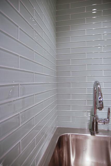 Rambling Renovators Glass Tile Laundry Room Backsplash