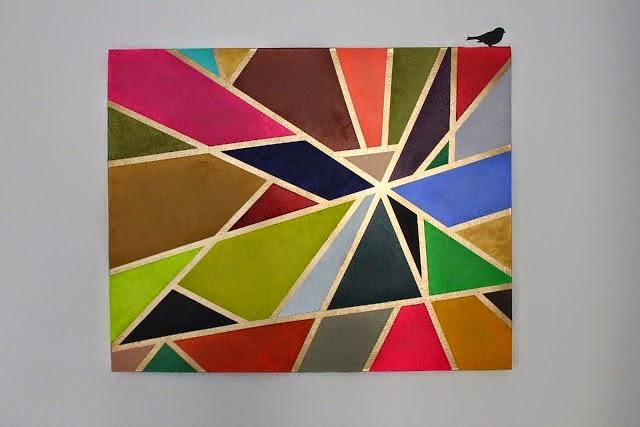 Quadro fácil pintado com fita adesiva