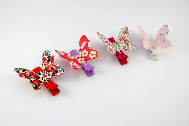 barrettes papillons anti glisse pour enfants en liberty et en france duval stalla