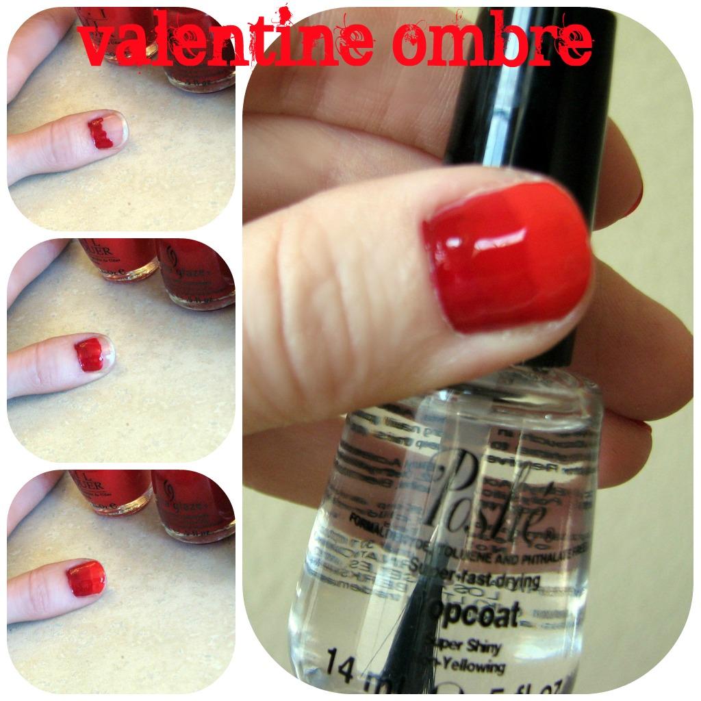 How To Do Ombre Nail Polish: Kiki Creates: Valentine's Ombre Nails {tutorial}